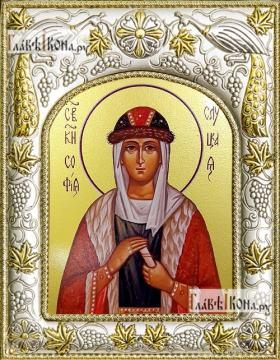 София Слуцкая, икона в ризе, артикул 42825