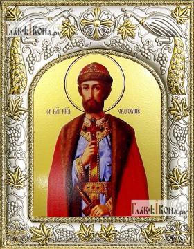 Святослав Владимирский, икона в ризе, артикул 42826