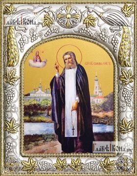 Серафим Саровский (ростовой), икона в ризе, артикул 42827