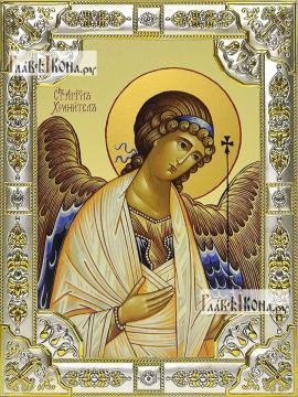 Ангел Хранитель, икона в посеребренной ризе, 18х24 см