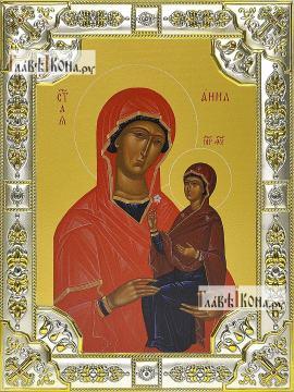 Анна праведная, икона в посеребренной ризе, 18х24 см