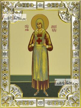 Аполлинария Тупицына, икона в посеребренной ризе, 18х24 см