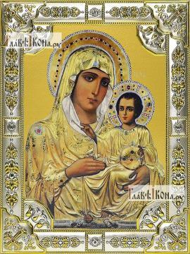 Иерусалимская Божия Матерь, икона в посеребренной ризе, 18х24 см