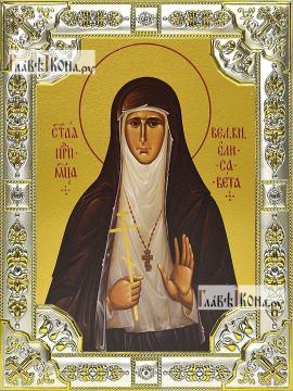 Елисавета Алапаевская, икона в посеребренной ризе 18х24см