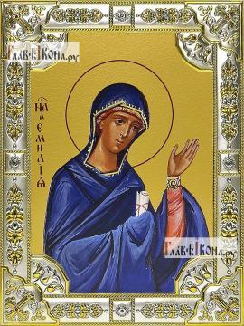 Эмилия (Емилия) Кесарийская, икона в посеребренной ризе 18х24 см