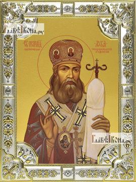 Лука Крымский, икона в посеребренной ризе, 18х24 см.