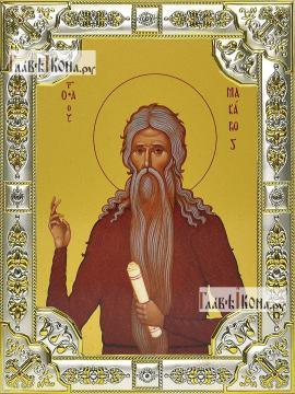 Макарий Великий, икона в посеребренной ризе, 18х24 см.
