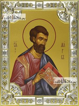 Марк апостол, икона в посеребренной ризе, 18х24 см.