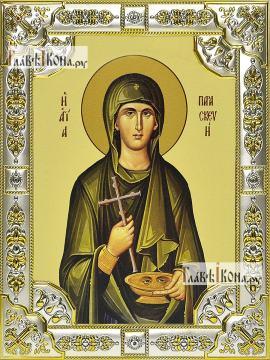 Параскева Римская, икона в посеребренной ризе, 18х24 см.