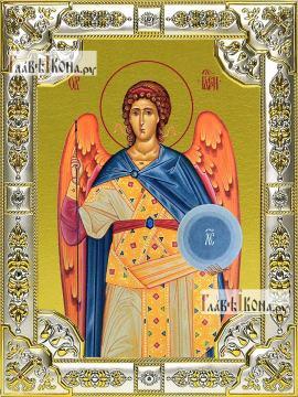 Гавриил архангел, икона в посеребренной ризе, 18х24 см.