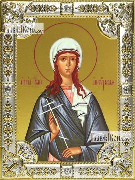 Юлия (Иулия) Анкирская, икона в посеребренной ризе, 18х24 см.
