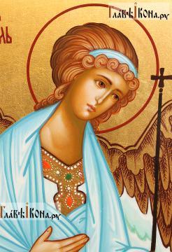 Рукописная икона Ангела Хранителя (поясного), артикул 714 - лик