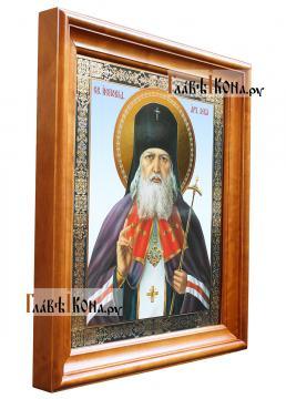 Лука Крымский, большая аналойная в киоте, артикул 50787 (светлый киот) сбоку
