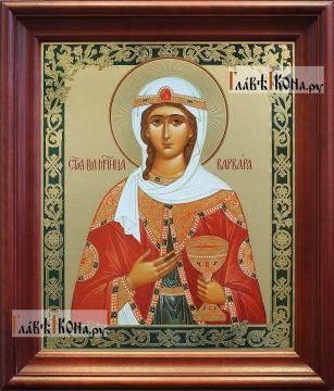 Великомученица Варвара, аналойная икона в темном киоте