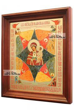 Неопалимая Купина, аналойная икона в темном киоте - вид сбоку