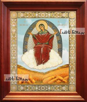 Спорительница хлебов, аналойная икона в темном киоте