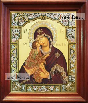 Донская Божия Матерь, аналойная икона в темном киоте