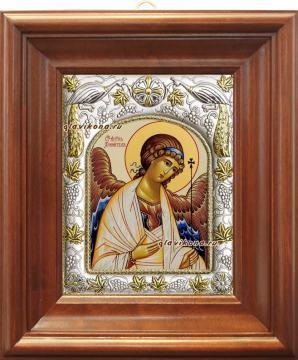 Ангел Хранитель, икона в ризе, артикул 41157 - вид в киоте