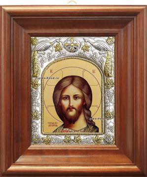 Господь Вседержитель, икона в ризе, артикул 41110 - вид в киоте