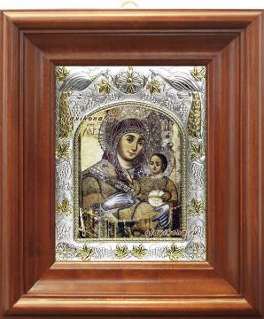 Вифлеемская Божия Матерь, икона в ризе, артикул 41249 - вид в киоте