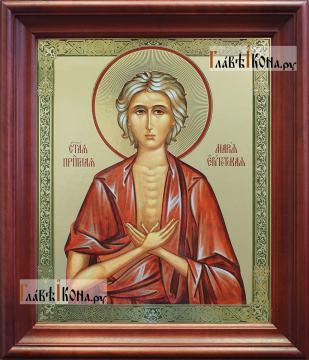 Мария Египетская, аналойная икона в темном киоте