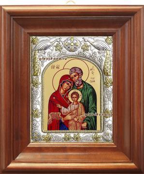 Святое Семейство, икона в ризе, артикул 41657 - вид в киоте