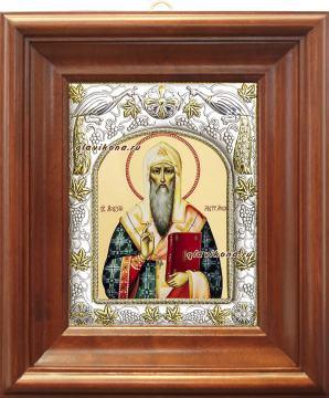 Митрополит Алексий, икона в ризе, артикул 41722 - вид в киоте