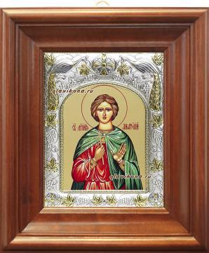 Анатолий Никейский, икона в ризе, артикул 41586 - вид в киоте