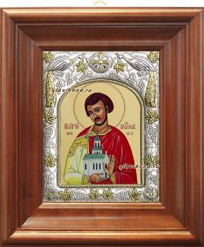 Владислав Сербский, икона в ризе, артикул 41425 - вид в киоте
