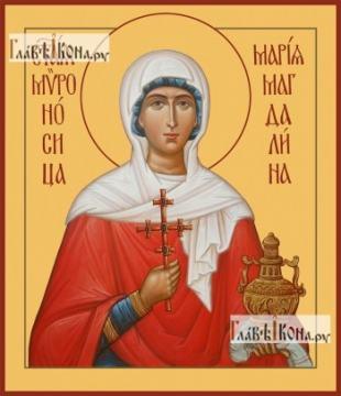 Мария Магдалина икона печатная на доске