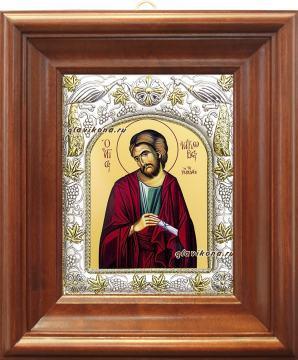 Апостол Иаков Заведеев, икона в ризе, артикул 41430 - вид в киоте