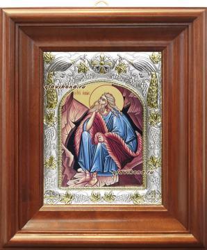 Илия пророк, икона в ризе, артикул 41424 - вид в киоте