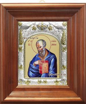 Иоанн Богослов, икона в ризе, артикул 41438 - вид в киоте