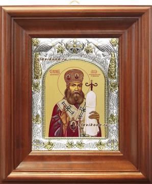 Лука Крымский, икона в ризе, артикул 41539 - вид в киоте