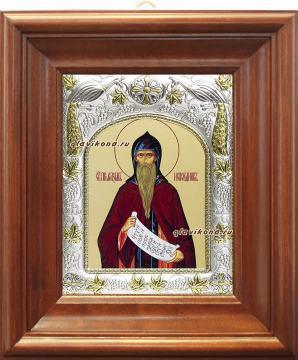 Максим Исповедник, икона в ризе, артикул 41519 - вид в киоте