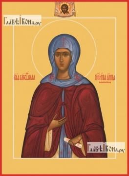 Анна Кашинская великая княгиня, икона на дереве печатная