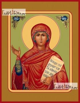 Анна Пророчица, мать пророка Самуила, икона печатная на дереве