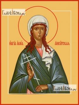 Иулия Анкирская, икона на дереве печатная