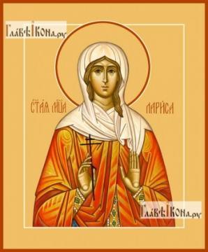 Лариса Готфская, икона на дереве печатная