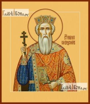 Владимир равноапостольный, икона на дереве печатная