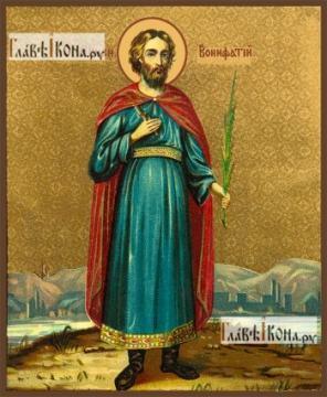 Вонифатий мученик (старинный образ), икона на дереве печатная