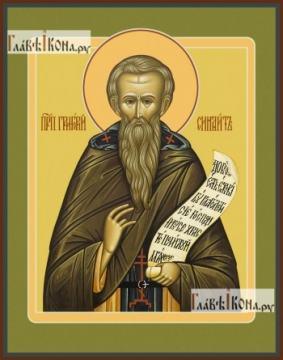 Григорий Синаит, икона на дереве печатная