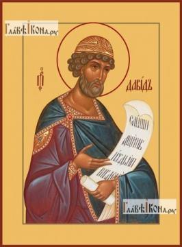Давид царь и пророк, икона на дереве печатная