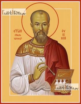 Евгений (Боткин), врач мученик, икона на дереве печатная