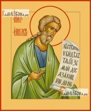 Иаков апостол, брат Господень, икона на дереве печатная