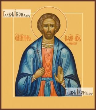 Иоанн Новый, Сочавский, печатная на дереве икона