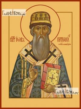 Иов, патриарх Московский, печатная на дереве икона