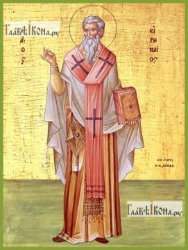 Ириней Лионский, печатная на дереве икона