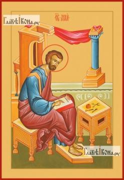 Лука апостол, евангелист, печатная на дереве икона