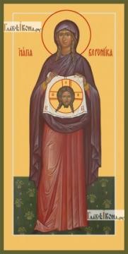 Вероника Праведная (ростовая) - икона на дереве печатная